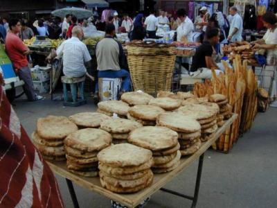 ALGER Vu d'un marché au mois de Ramadan
