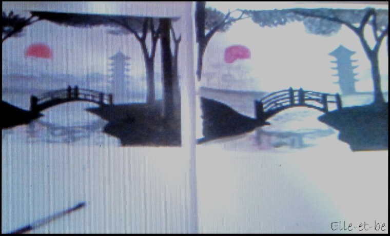 paysage Japonais (mes dessins)