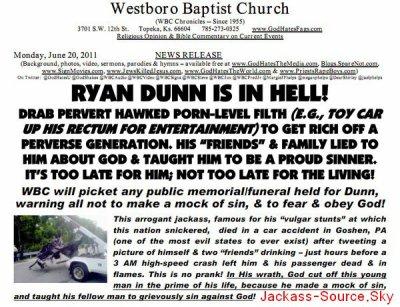 Communiqué de Westboro Baptist Church