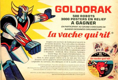 Goldorak La Vache Qui Rit !!!!!