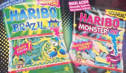 Nouveautés Haribo : Brazil & Monster Pik