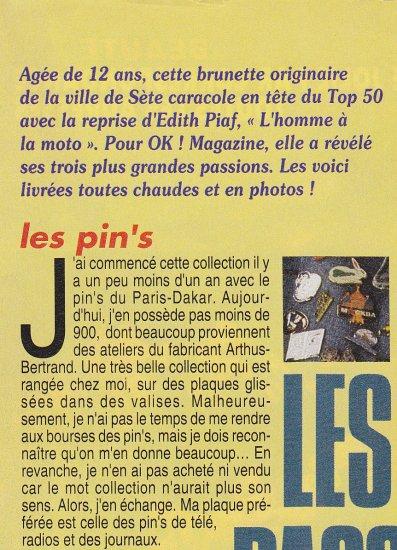 Les 3 grandes passions de Fanny mars 1992 (1)