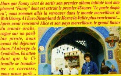 Fanny dans l'Univers d'Eurodisney mai 1992 (1)