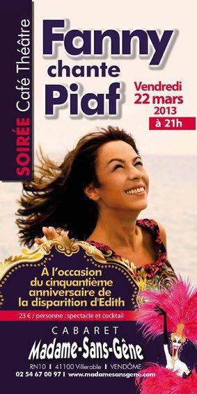 """Nouveau concert """" Fanny Chante Piaf """" mars 2013"""