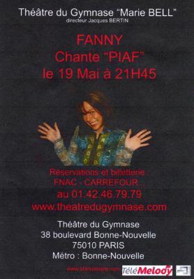 Affiche du concert  de Fanny
