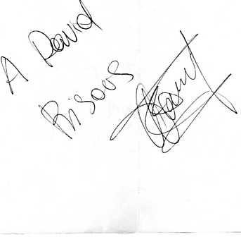 Autographe de Fanny du 19 mai 2007