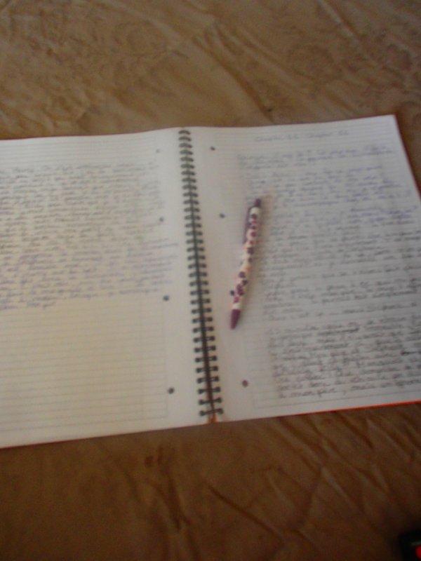 Mon cahier à fiction :)