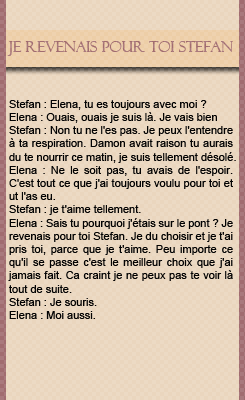 Article en partenariat avec LovelyxDiaries. → Création - Traduction. Stefan & Elena 4x01.