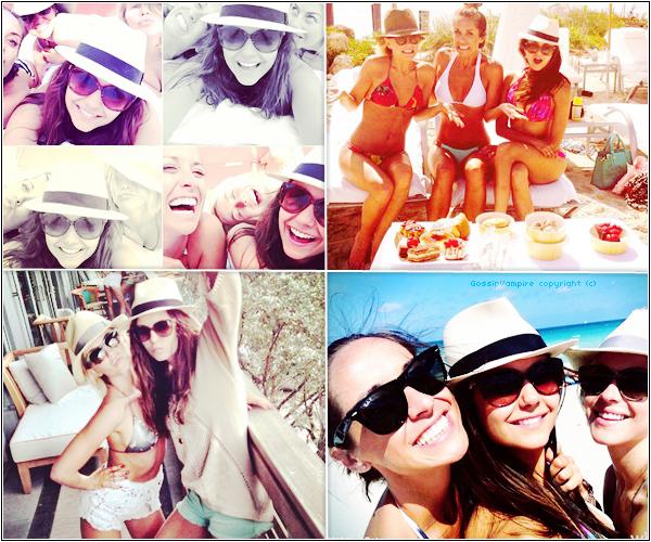 Ces derniers jours, la belle Nina s'est rendue plusieurs fois à la plage de Miami.