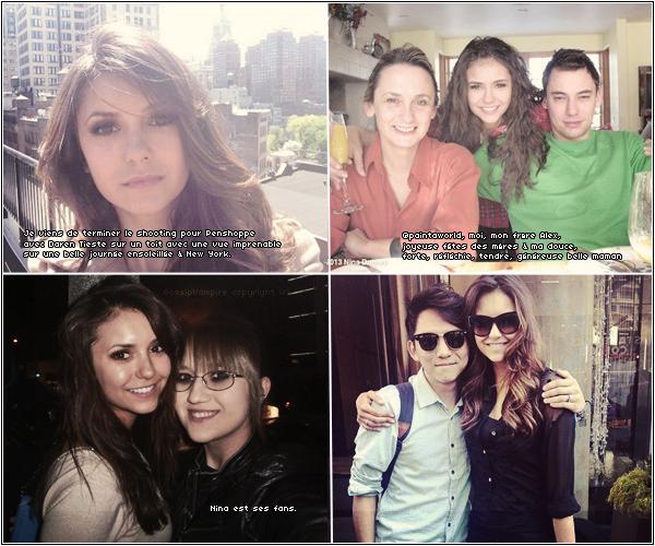 Quelques photos postées par Nina ses derniers jours.