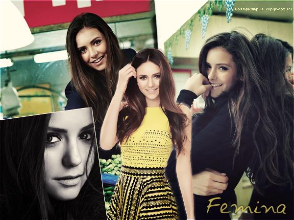 """(Re) découvrez les photos du magazine chinois """" Femina """" de Nina en HQ."""