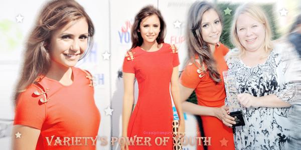 Nina s'est rendu le 27 juillet dernier à l'évènement « Variety's Power Of Youth ». C'est une cérémonie qui récompense les célébrités qui participent à des causes caritatives ou philanthropiques. ____________________