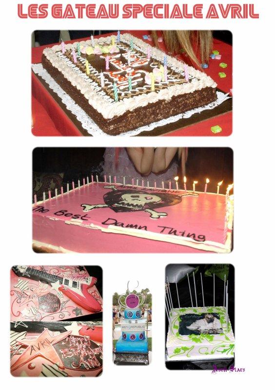 Les gâteau spéciale AvrilNewsletter