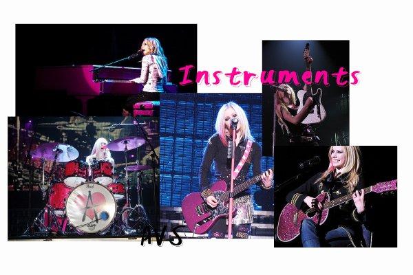 Dans le sac d'Avril Lavigne pour TheBest DamnTourNewsletter