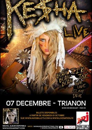 Ke$ha en concert à Paris le 07 décembre !!!!
