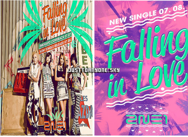 2NE1 des photo du teaser de Falling in love