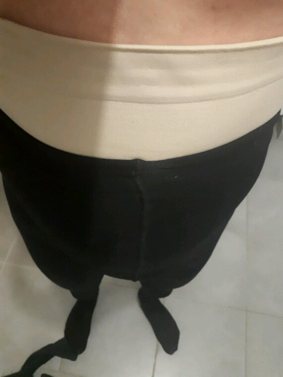 Moi se matin culotte gainante haute + collant contention...