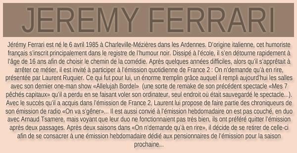 Présentation de Jérémy !