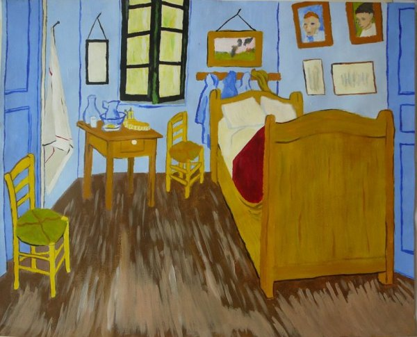 reproduction de la chambre coucher de van gogh wonderland. Black Bedroom Furniture Sets. Home Design Ideas