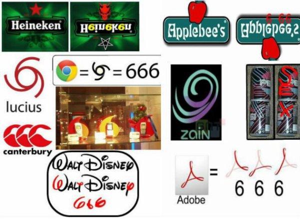 Marques / logos satanique 666