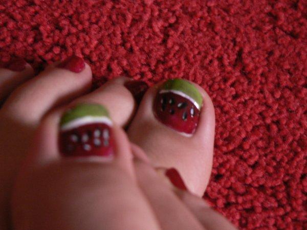 Nail art: Pastèques