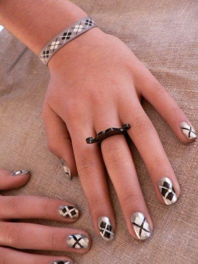 Nail art: Losanges et lignes
