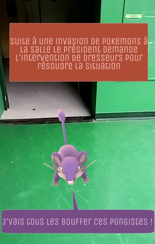 Invasion de pokemons à la salle