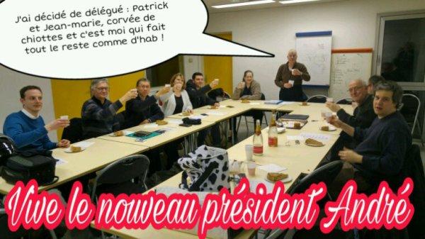 Reunion de bureau : vive le nouveau président