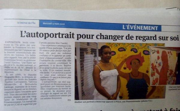 Article dans le journal d'aujourd'hui sur mon expo de peinture