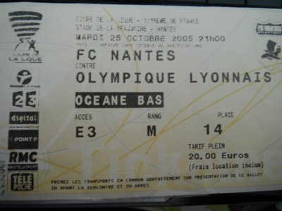 Billets FC Nantes