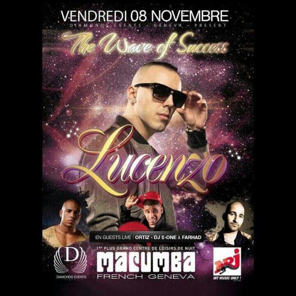 LUCENZO LIVE @ MACUMBA (FRENCH GENEVA) VENDREDI 8 NOVEMBRE