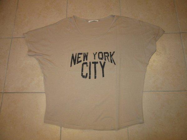 T shirt beige NEW YORK CITY