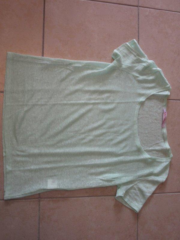 Tshirt en lin taille S/M vert d'eau