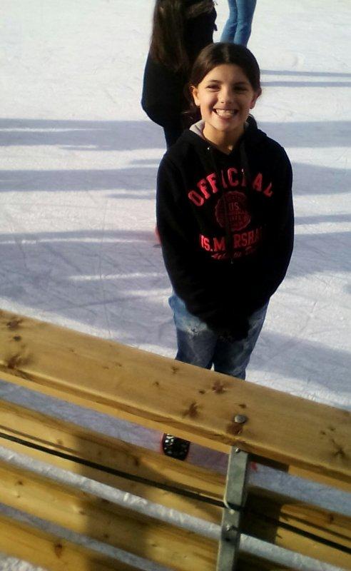 Ma fille à la patinoire