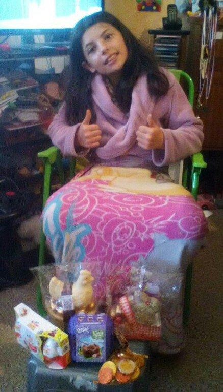 Ma fille les chocolats de Pâques