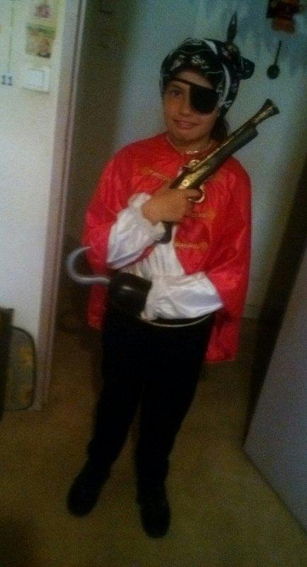 Ma fille en pirate