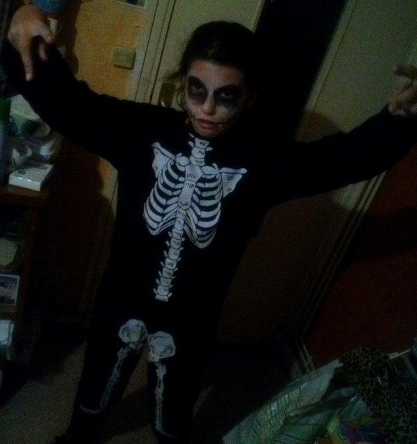 Ma fille déguisé Halloween