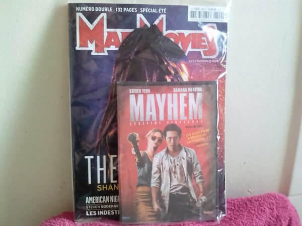 Le Mad de juillet-aout avec le DVD du mois ''Mayhem''