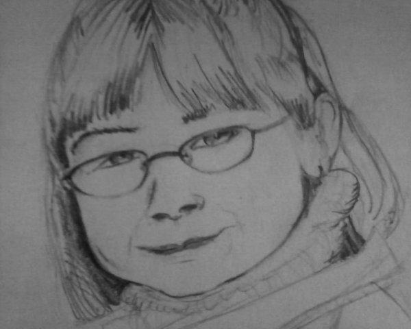 un dessin de mon frère et ma soeur fait par MOI (non-terminé pour l'instant)