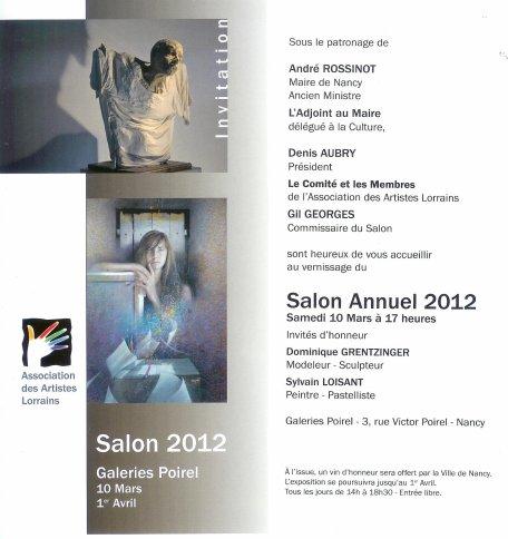 Prochaine Expo ou je présente quatre de mes sculptures.