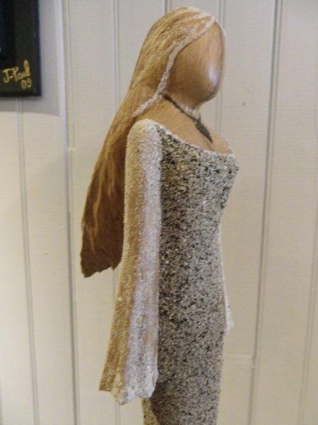 Femme robe sable