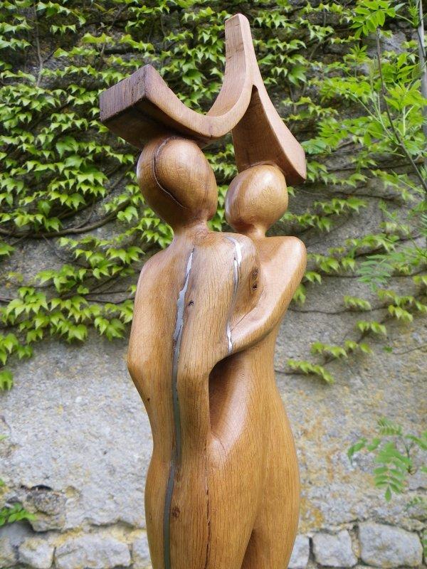 Couple avec incrustation d'étain