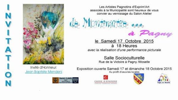 Prochaine expo Pagny sur Moselle le 17 et 18 oct 2015