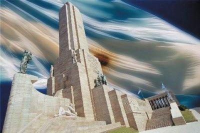 Homenaje a la bandera Argentina en su día