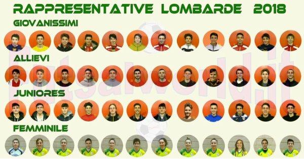 futsalworld.it  -- Rappresentative Lombarde 2018  . . .  i 48 convocati/e  !!!