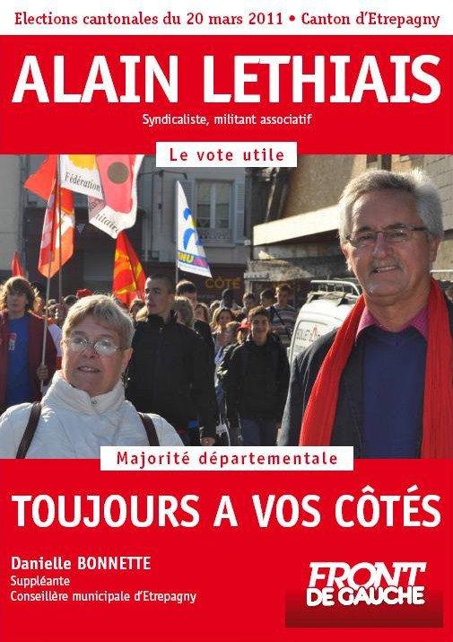 Affiche pour les cantonales d'Etrépagny