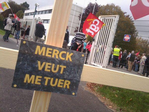 Le cadeau de Noël de Merck à ses salariés d'Éragny : 246 licenciements !