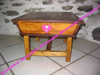 PETITS MOBILIERS BOIS - COLLECTION LUCILUCE TABLE PETRIN / ABRACADABOIS Jouets et petits mobiliers en bois