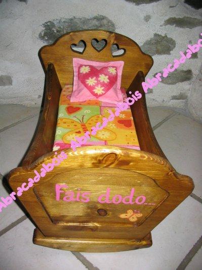 JOUET BOIS- COLLECTION LUCILUCE BERCEAU POUPEE/ABRACADABOIS Jouets et petits mobiliers en bois / Idées cadeaux originales et uniques