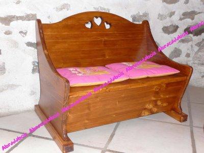 JOUET BOIS-COLLECTION LUCILUCE BANC COFFRE ENFANT/ABRACADABOIS Jouets et petits mobiliers enfant en bois